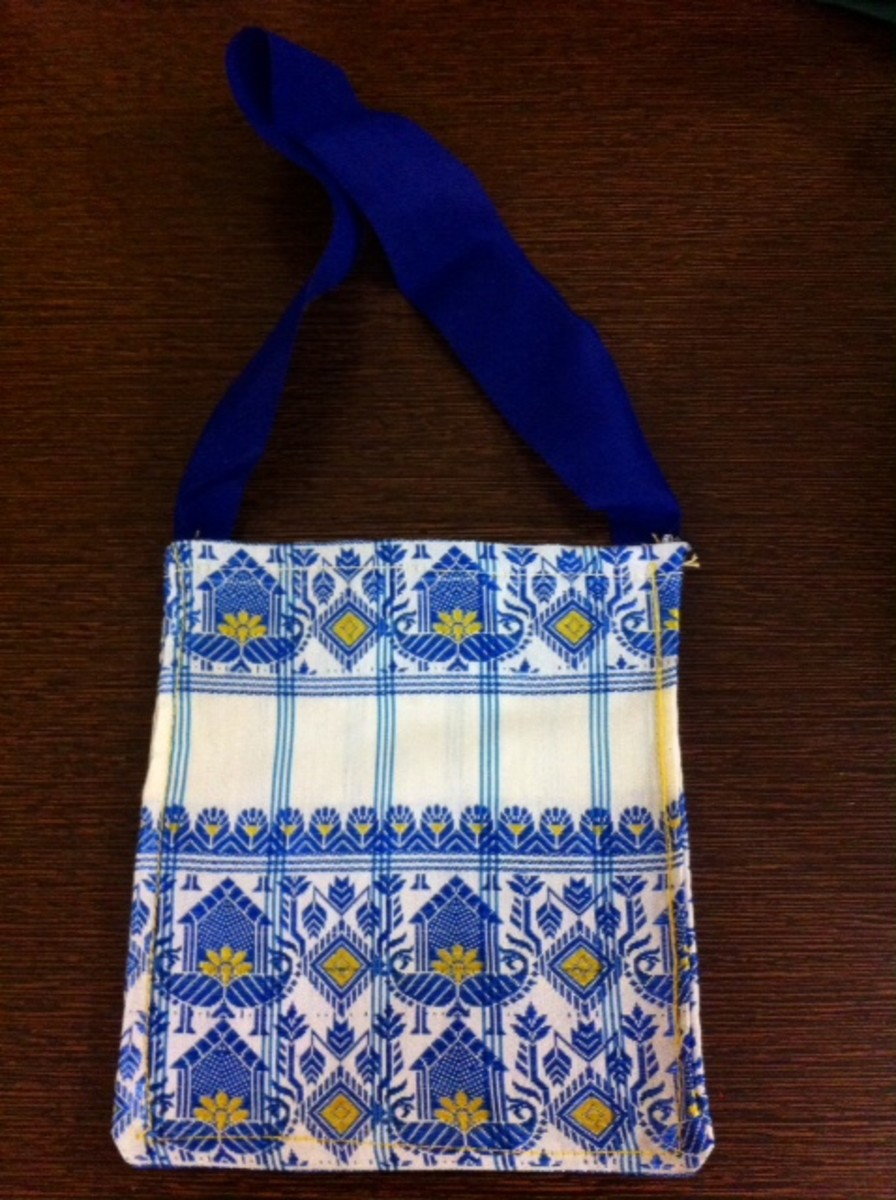 Square shaped silk gift pouch