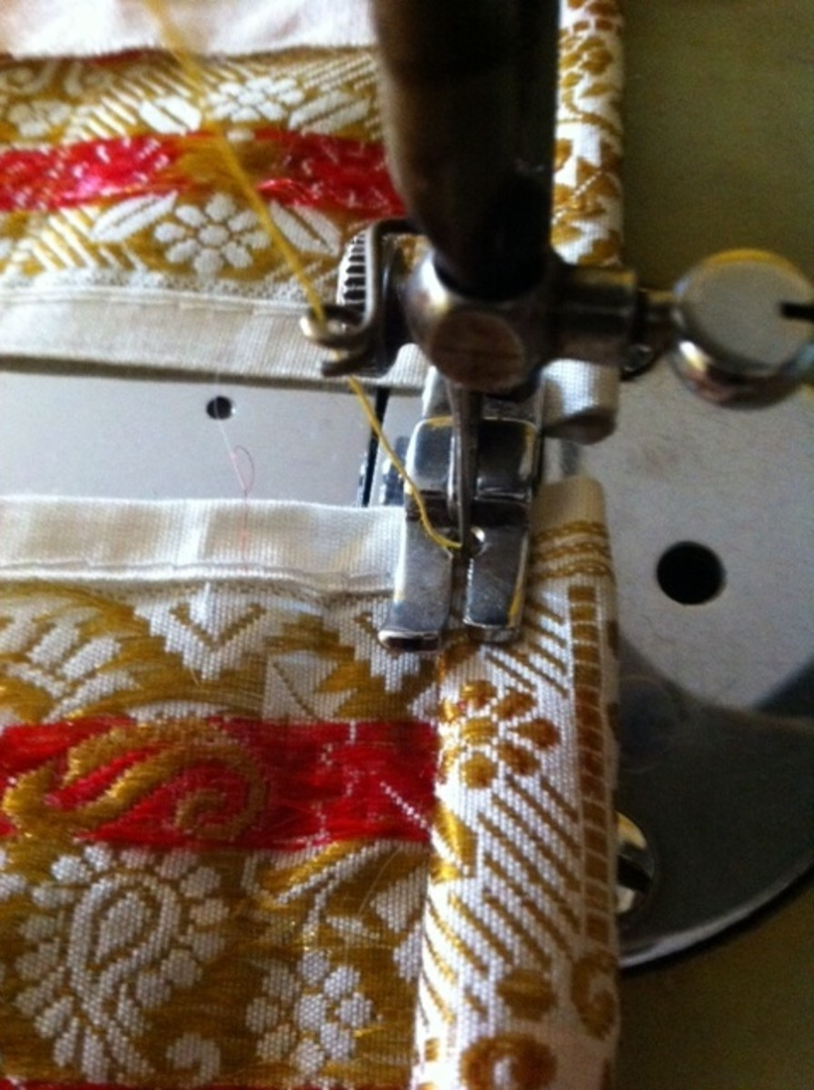 Fold and sew on the reverse side first