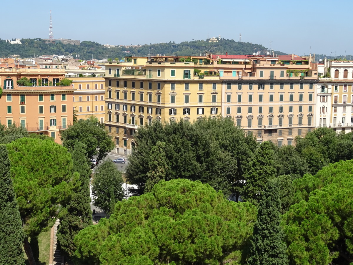 Rome has lovely parks which soften the skyline