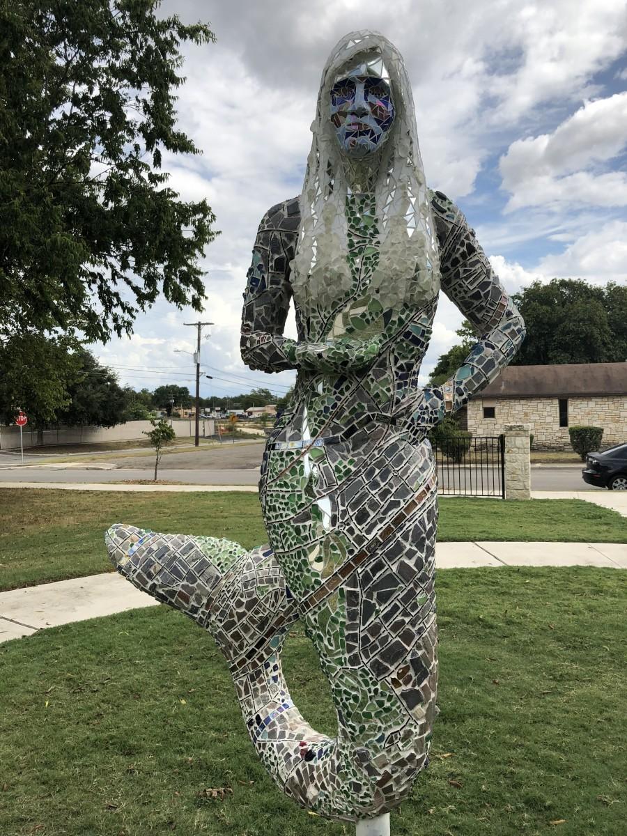 Statue 2 @ Eddie Durham Park, San Marcos, Texas