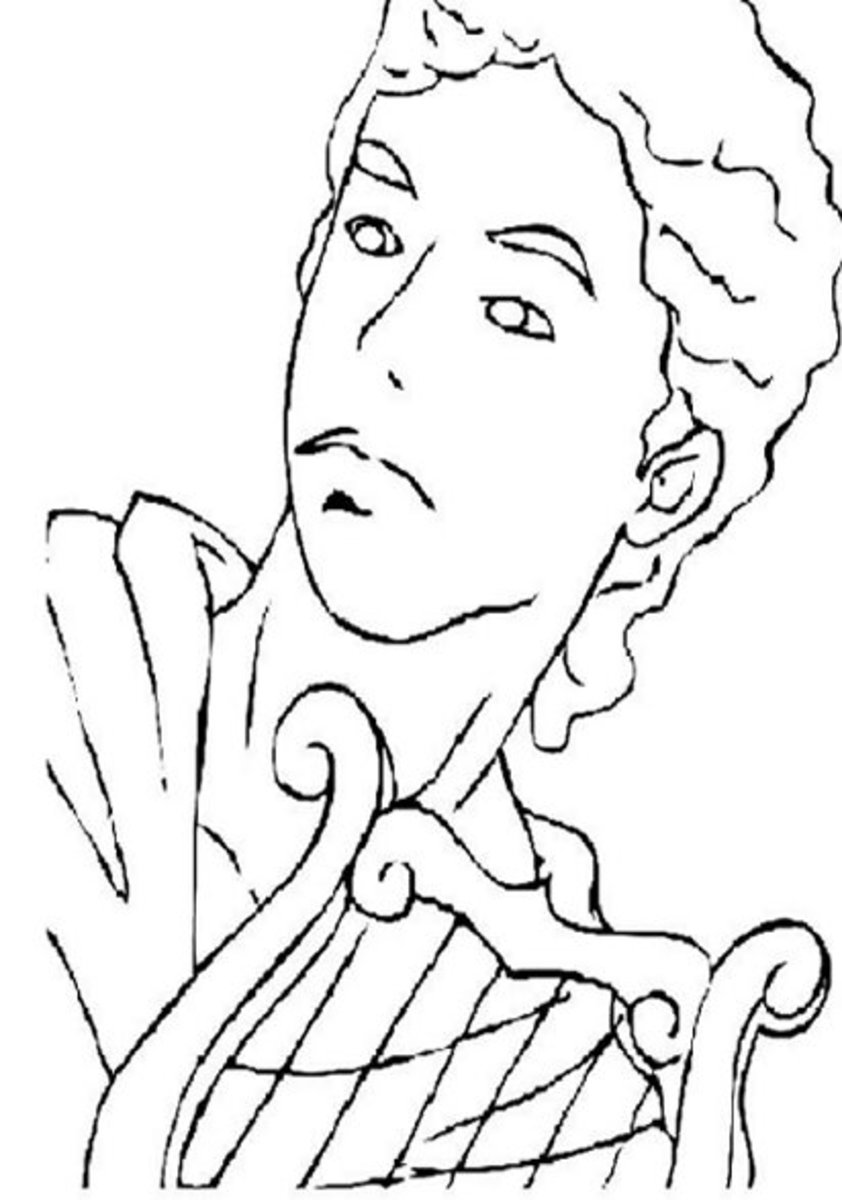 Apollo. God of music, healing, plague, prophecies. Greek Gods Kids Coloring Pages and Goddess Goddesses Colouring Pictures