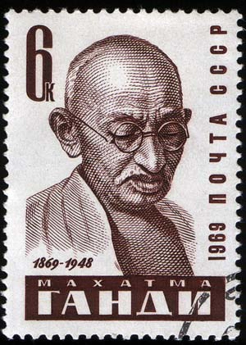 Mahatma Gandhi Kids Coloring Pages with Free Colouring Pictures to Print - Stamp