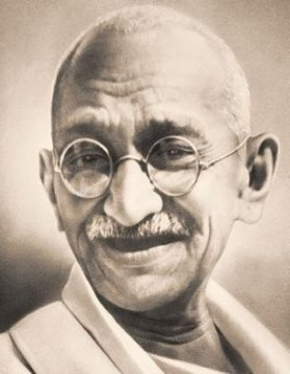 Mahatma Gandhi Kids Coloring Pages with Free Colouring Pictures to Print - Sepia Photo