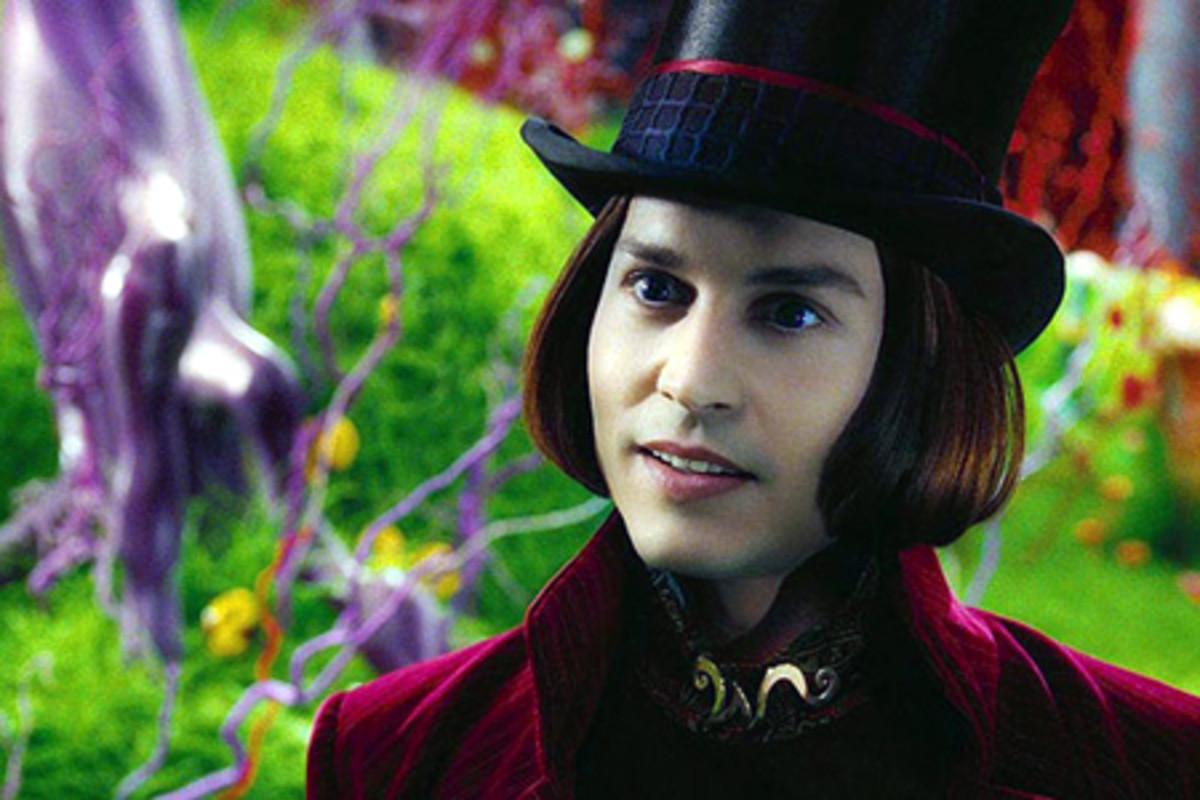 Bright crazed Willy Wonka
