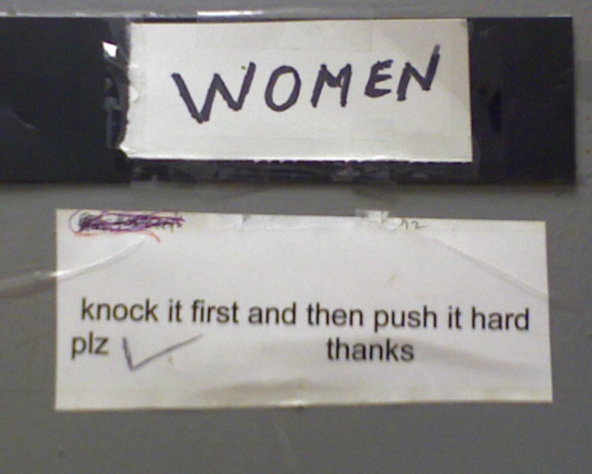 Knock it first and then push it hard