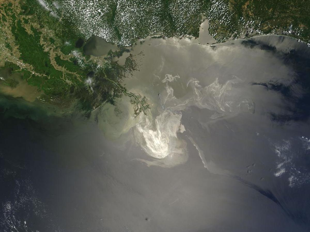 NASA Image of the Gulf Oil Spill, May 24, 2010