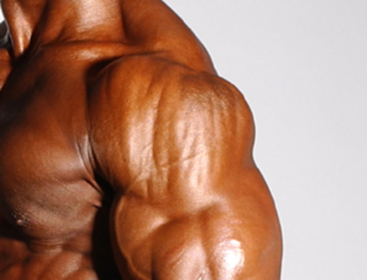 Big thick shoulder muscles are always impressive.