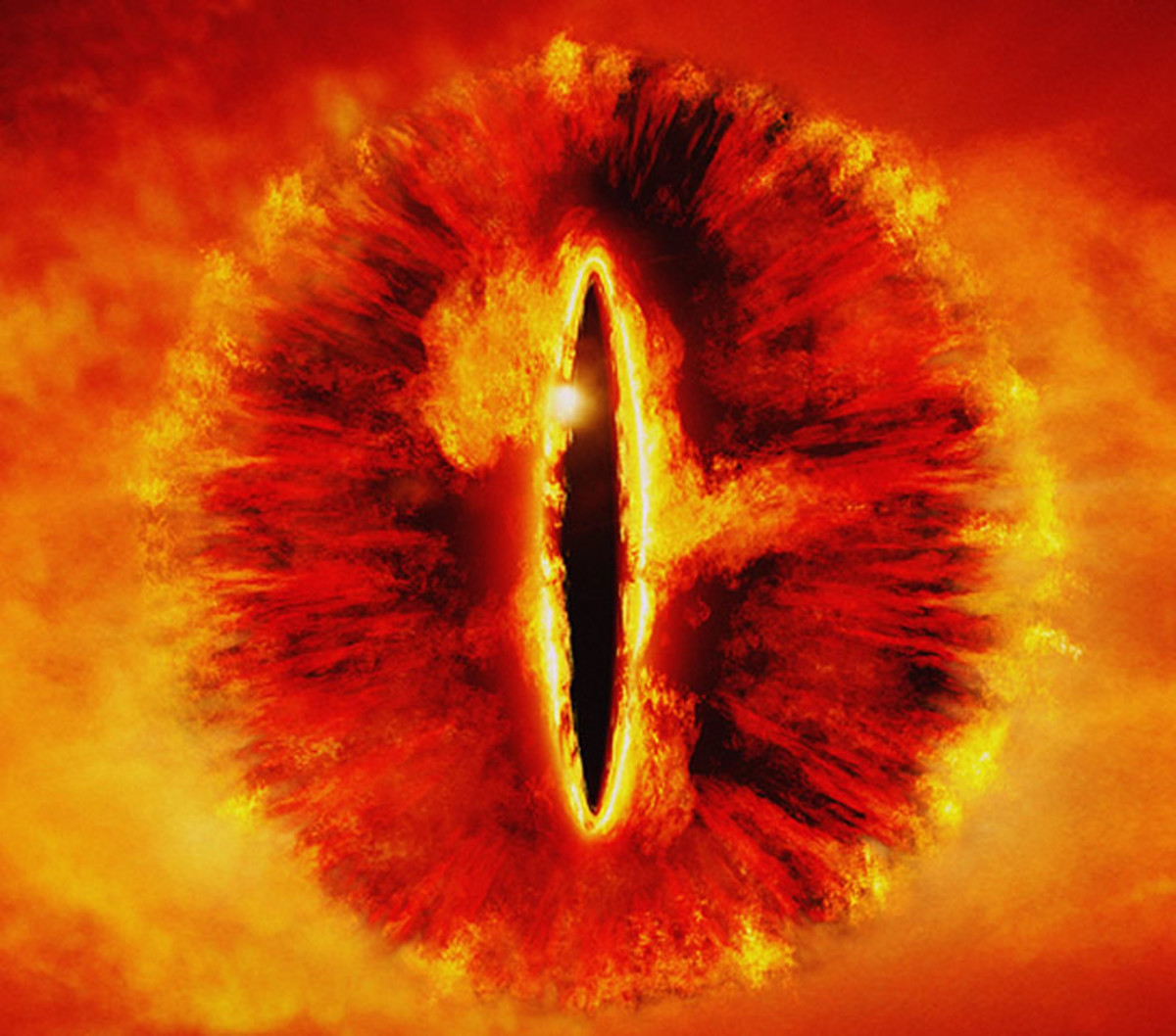 The Eye of Sauron as seen in the Lord of the Rings.