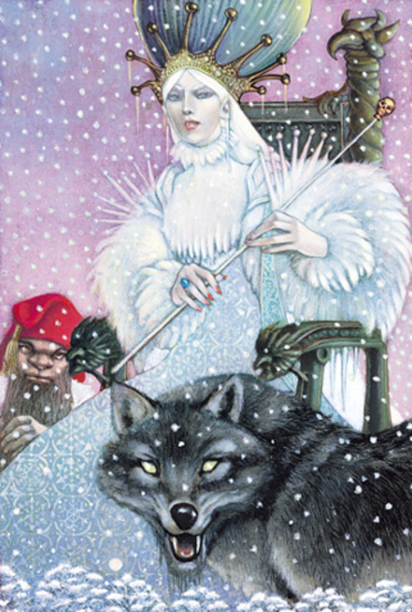 Jadis, the White Witch. Art by Leo and Diane Dillon.