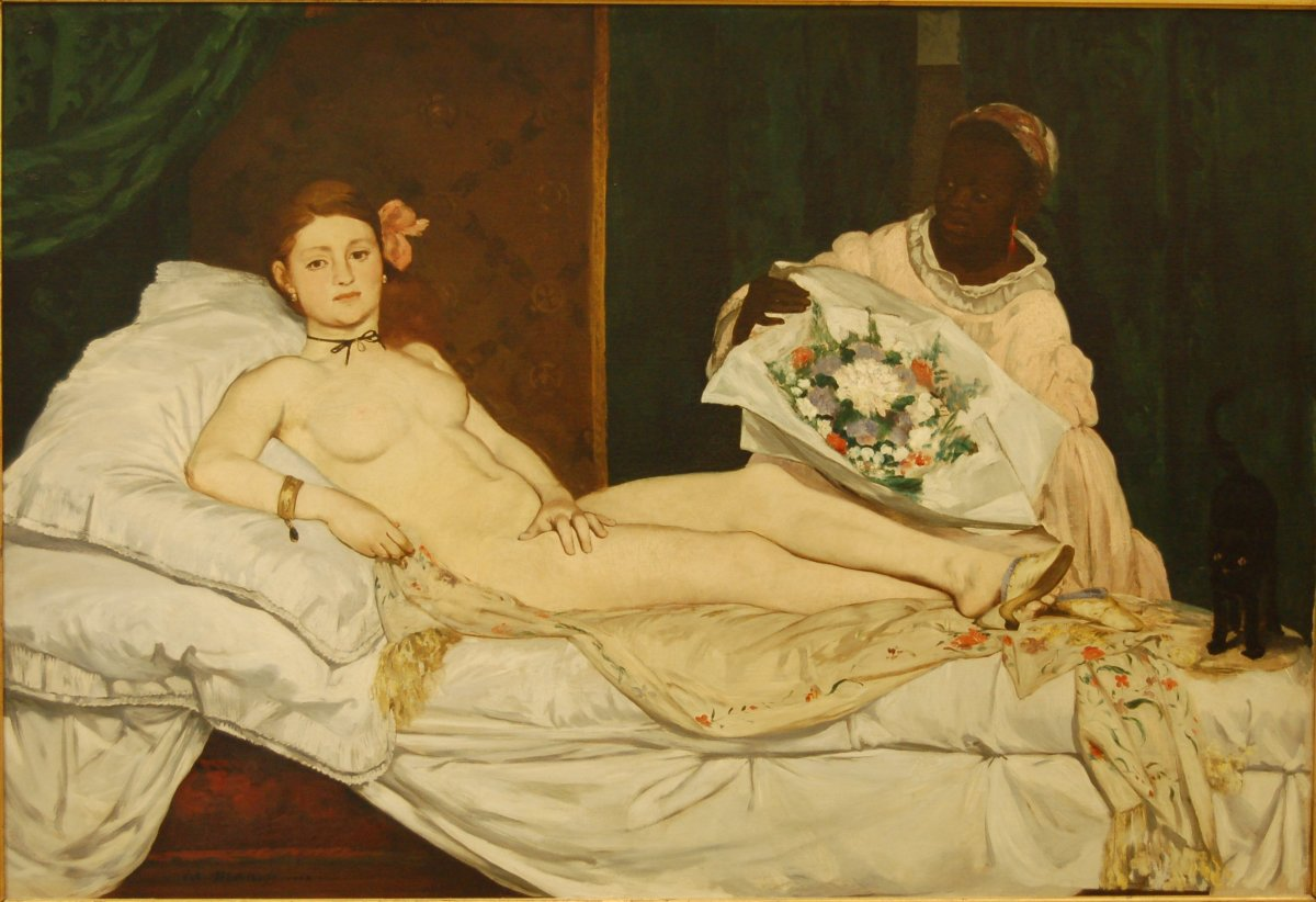 Manet's Olympia is often seen as a modern take on Titian's 'Venus of Urbino'