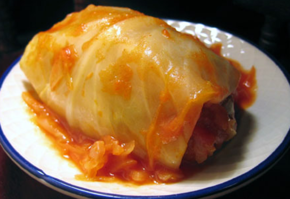 Provencale Stuffed Cabbage Recipe