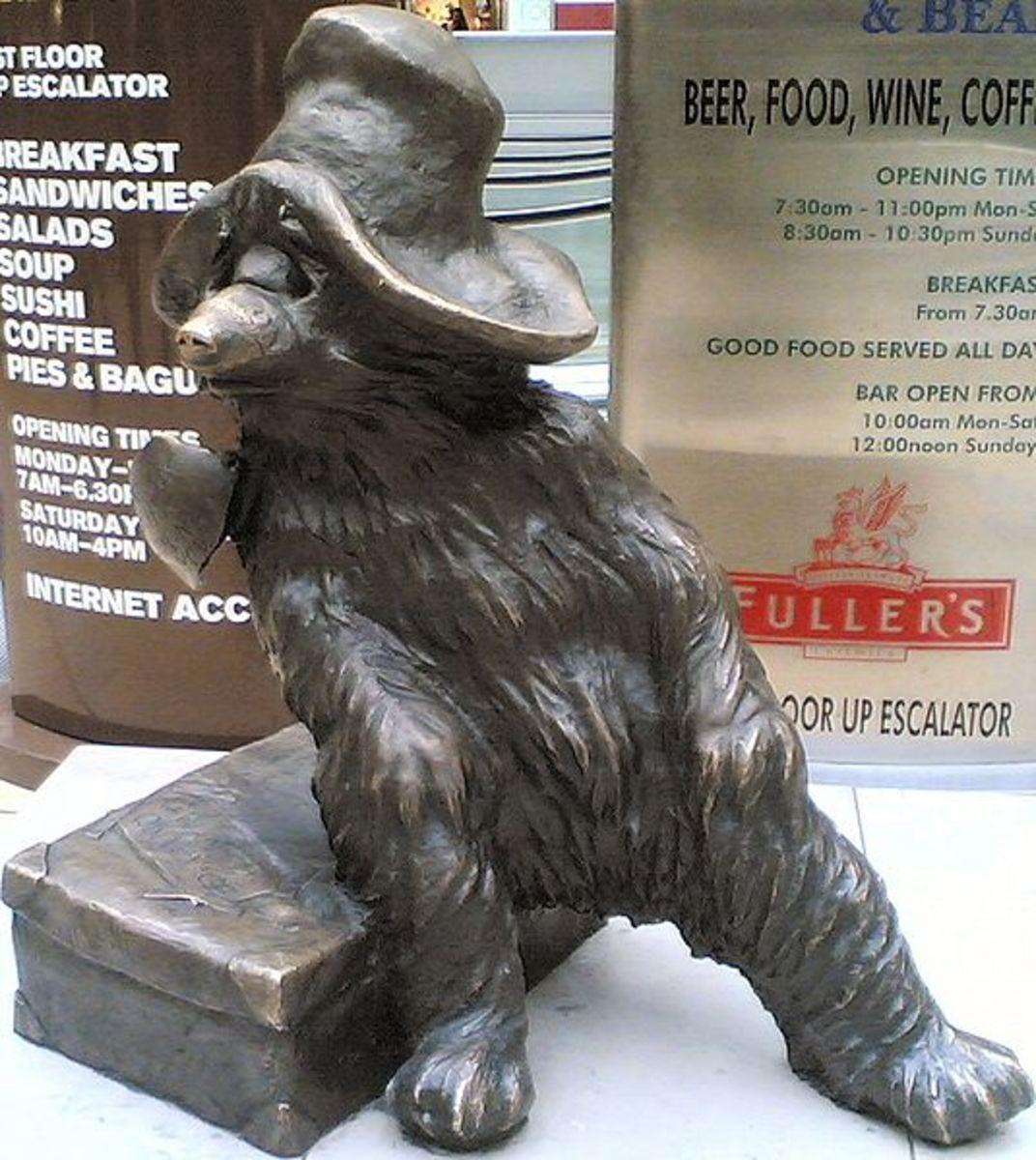 Paddington Statue on Paddington Station, London