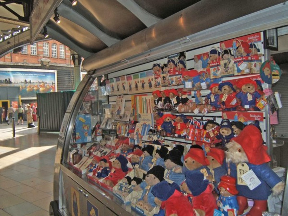 Paddington Bear Merchandise Stall at Paddington Station