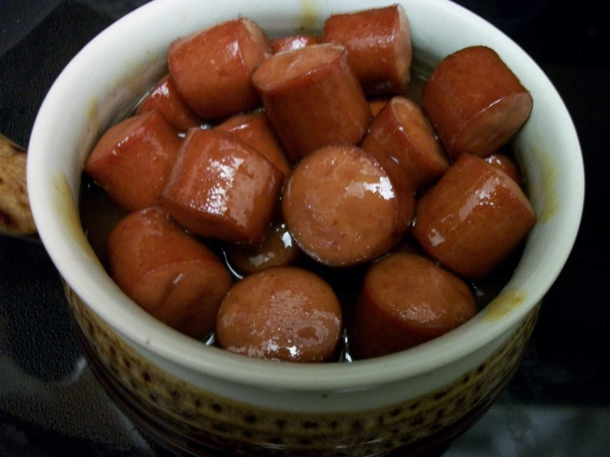 Cocktail Weenies in barbecue sauce