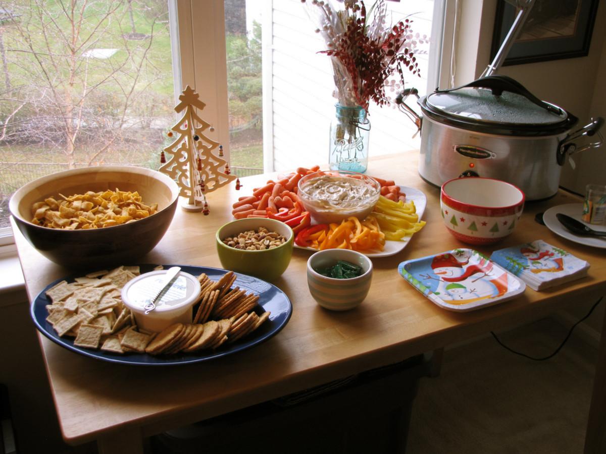 Variety of food platters