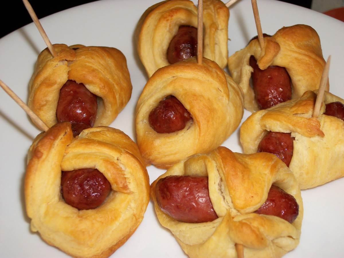 Pigs in Blankets made with Lit'l Smokies Sausages