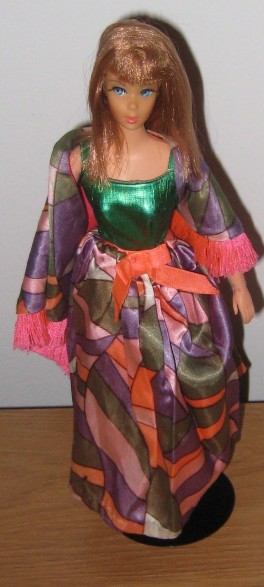 Living Barbie in Rainbow Wraps