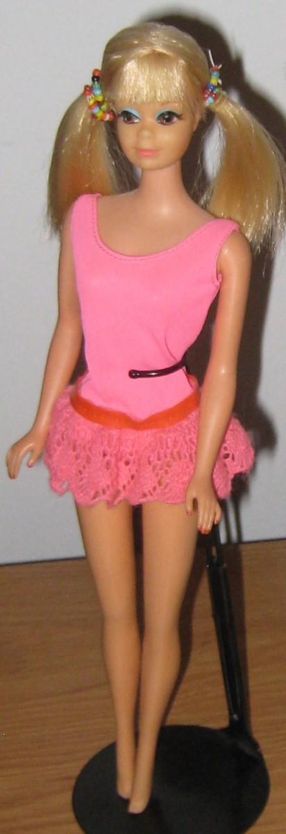 P. J. in her original swimsuit