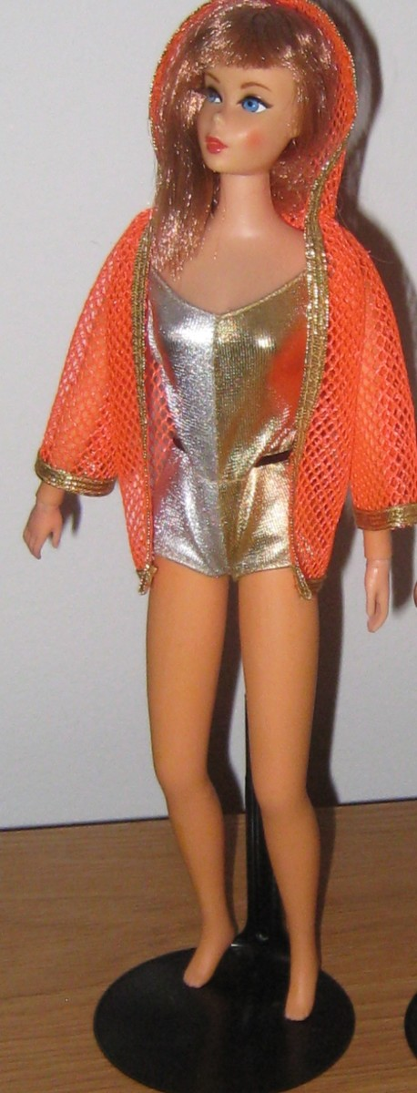 Living Barbie in her original outfit