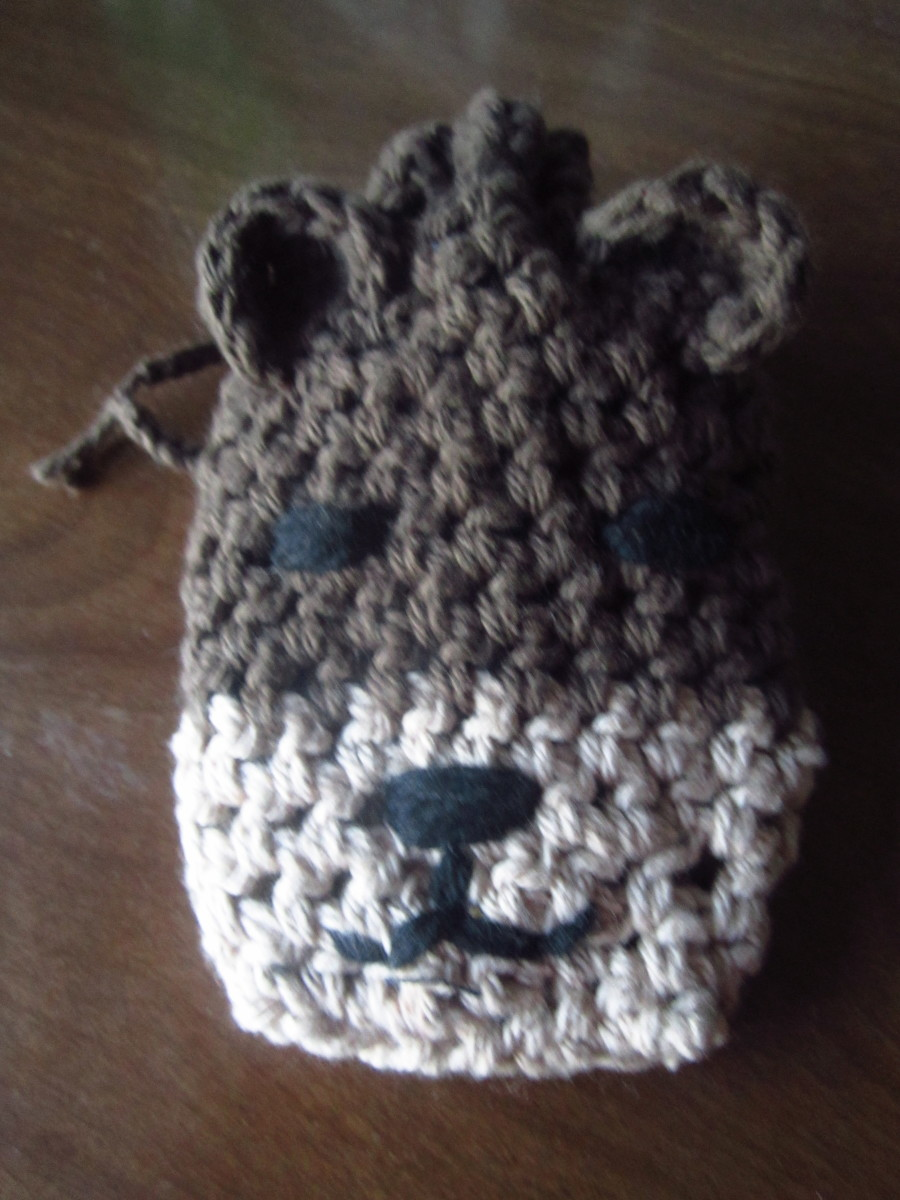 Teddy Bear Soap Sack/Soap Saver
