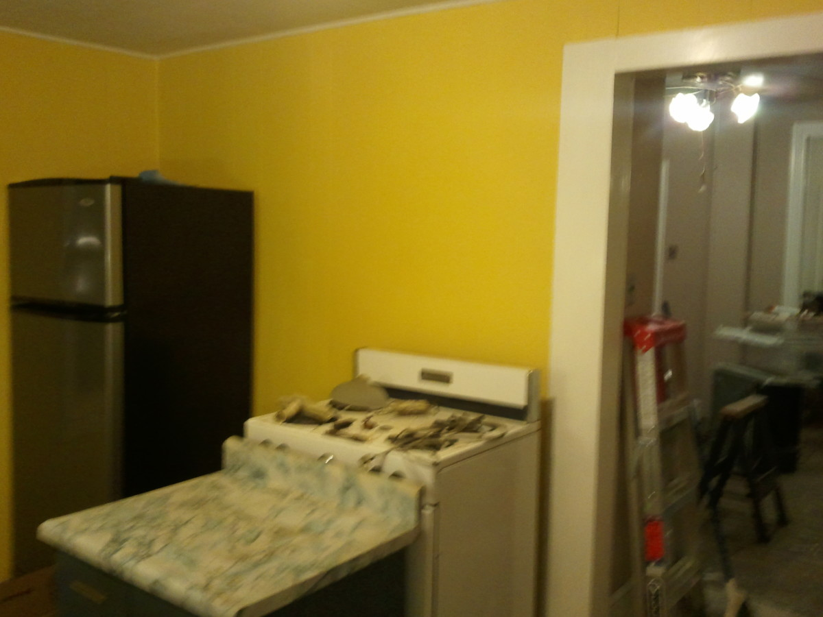 Kitchen with new paint