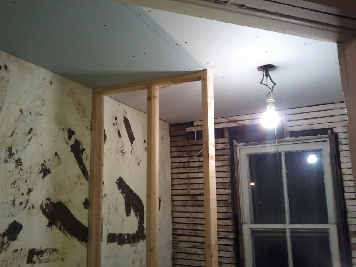 Bathroom drywalling