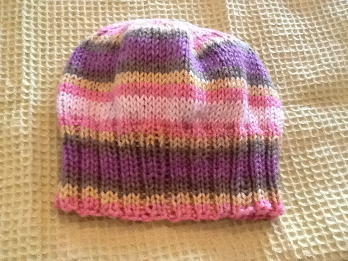 Knit A Childs Hat Free pattern Included