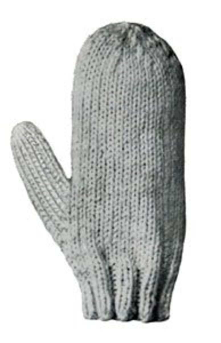 Knitting Pattern For Gloves On Straight Needles : Free Pattern For Childs Basic Mittens