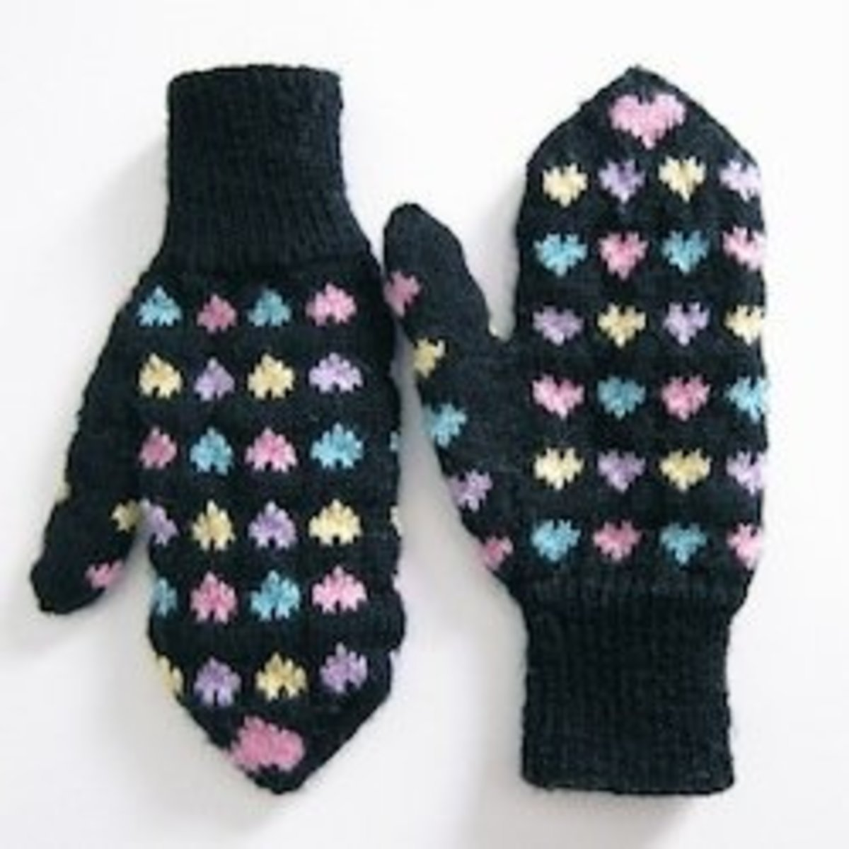 Sweet Heart Mittens Free knitting mitten patterns are the most useful of all free knitting patterns because they keep your hands nice and toasty. After all, frostbitten fingers can't stitch very well.