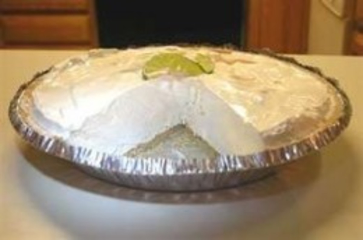 The key lime pie we made during our study of Florida and the other Southern states