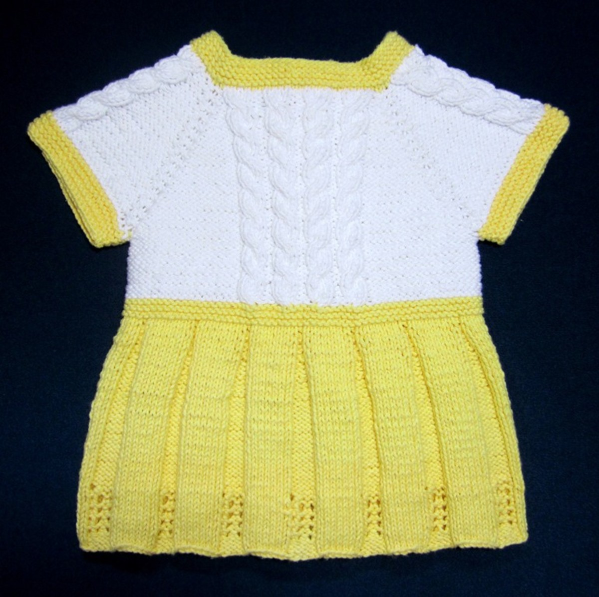 Seamless Yellow Baby Sweater Dress. Free Knitting Pattern ...