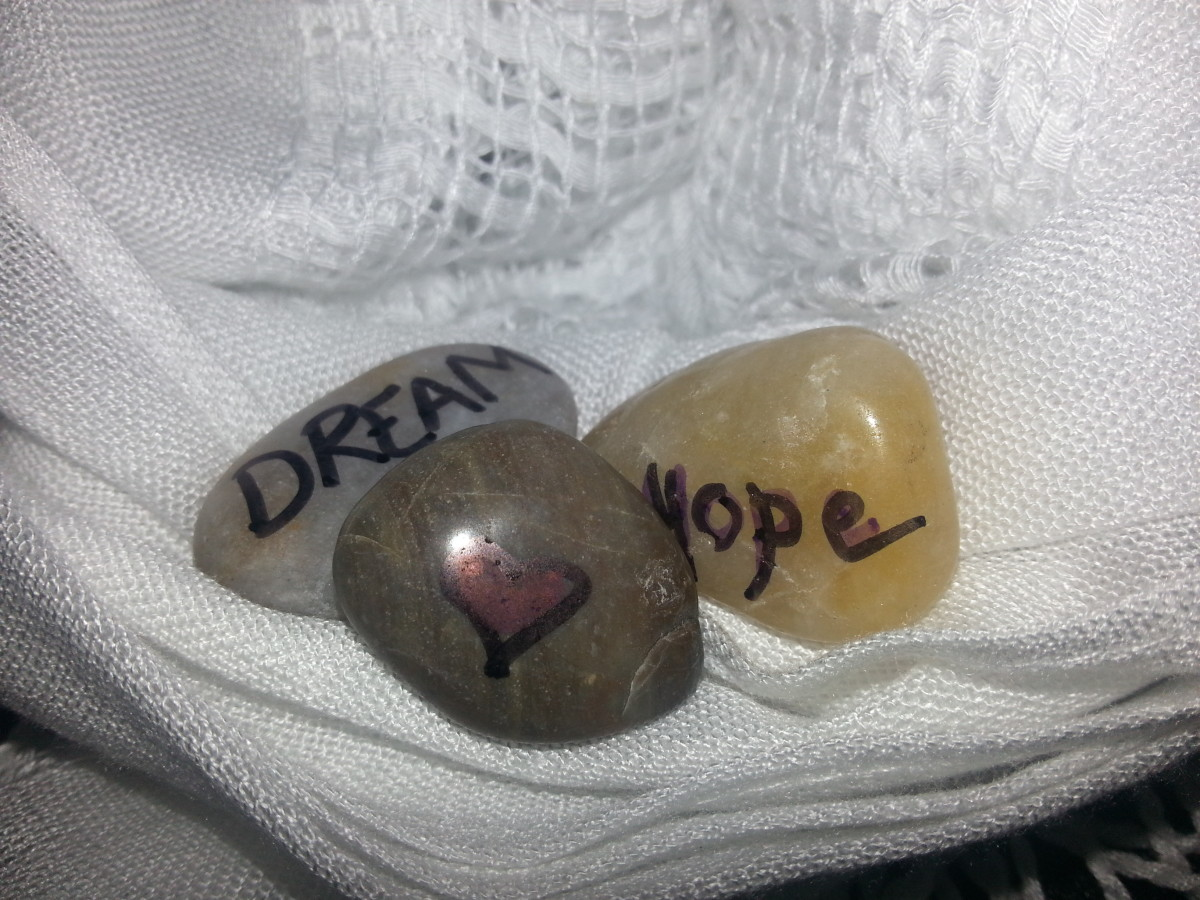 Painted stones. You can write or draw anything you like.