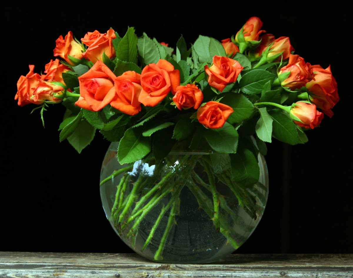 Large Orange Roses Bouquet Pic