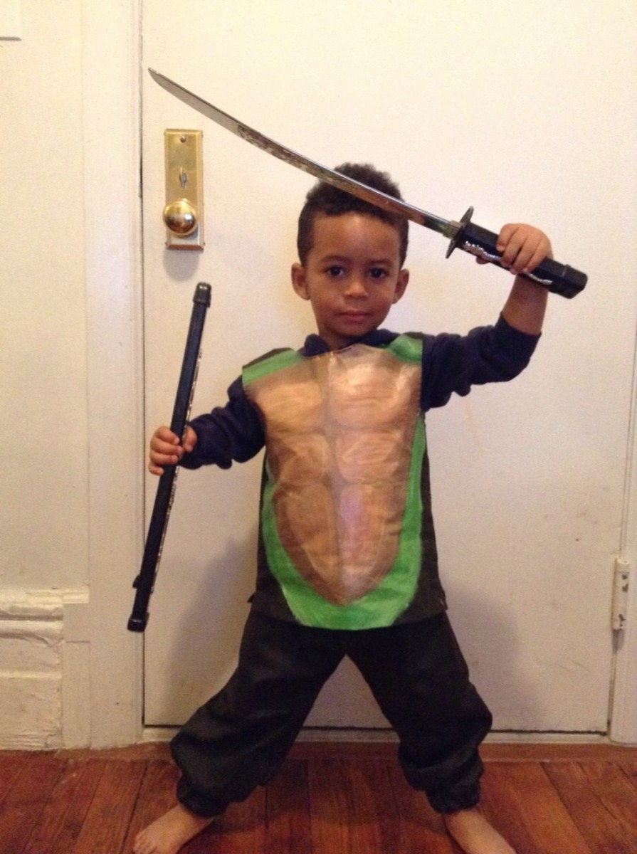 Toddler Leonardo the Ninja Turtle WIP