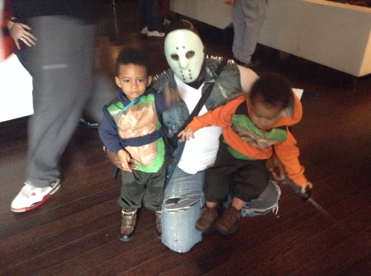 Casey Jones and the Toddler Mutant Ninja Turtles