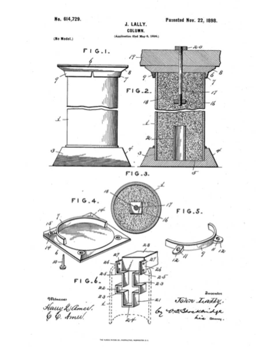 Cool, we are glancing at a diagram of Lally's first patent, 1898.