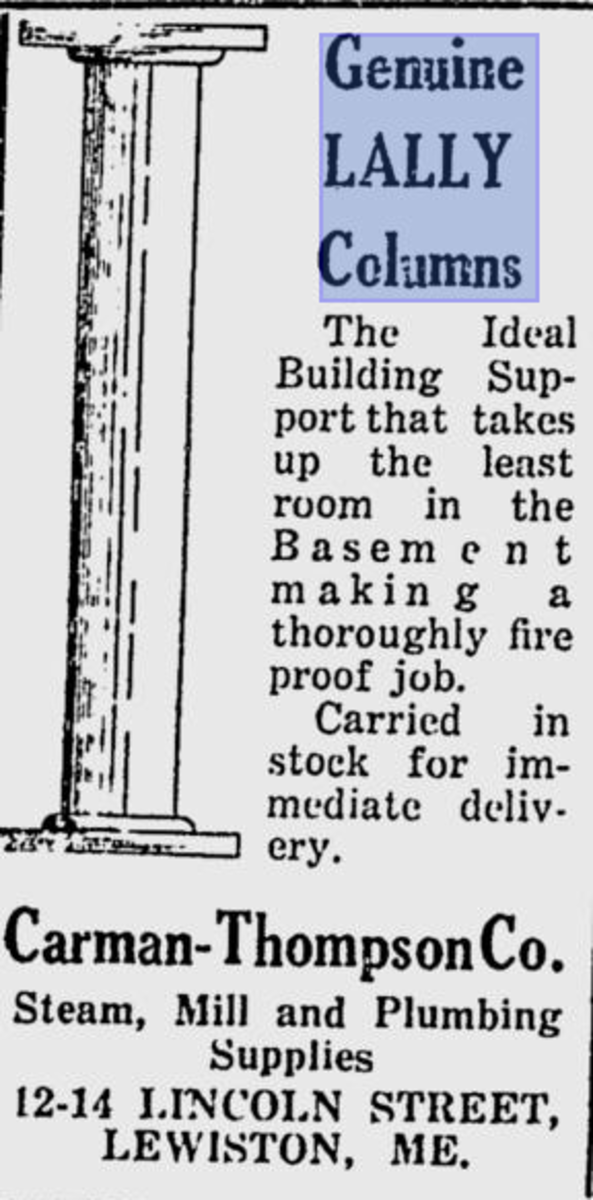 Perusing a newspaper ad from April 22, 1922 (in public domain).