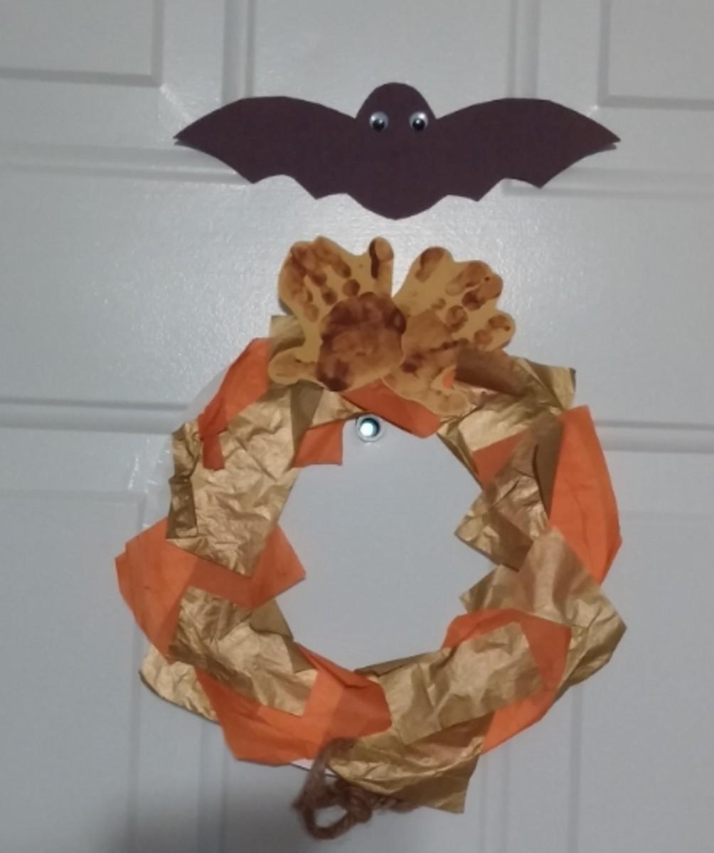 Halloween Decorations on the Front Door