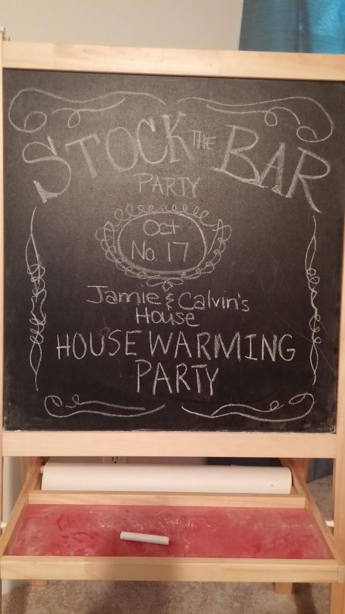 Jack Daniels Chalkboard Sign