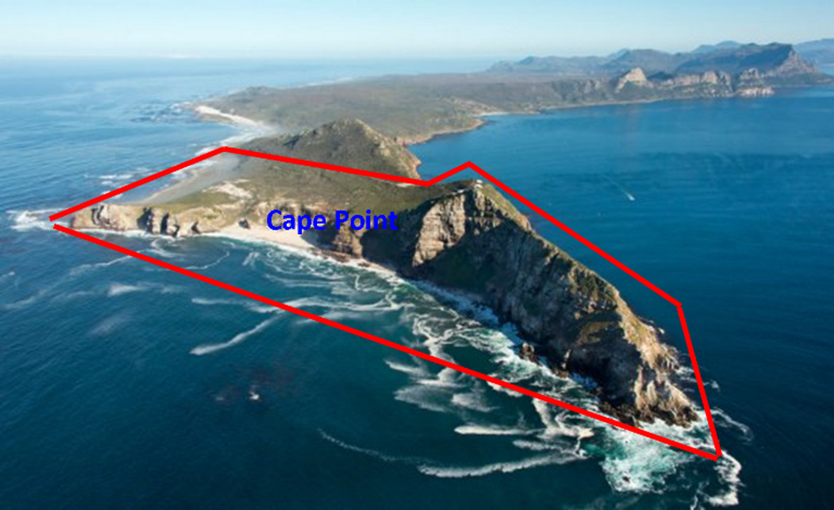 Table Mountain National Park (Cape Point). Aerial shot by Jean Tresfon