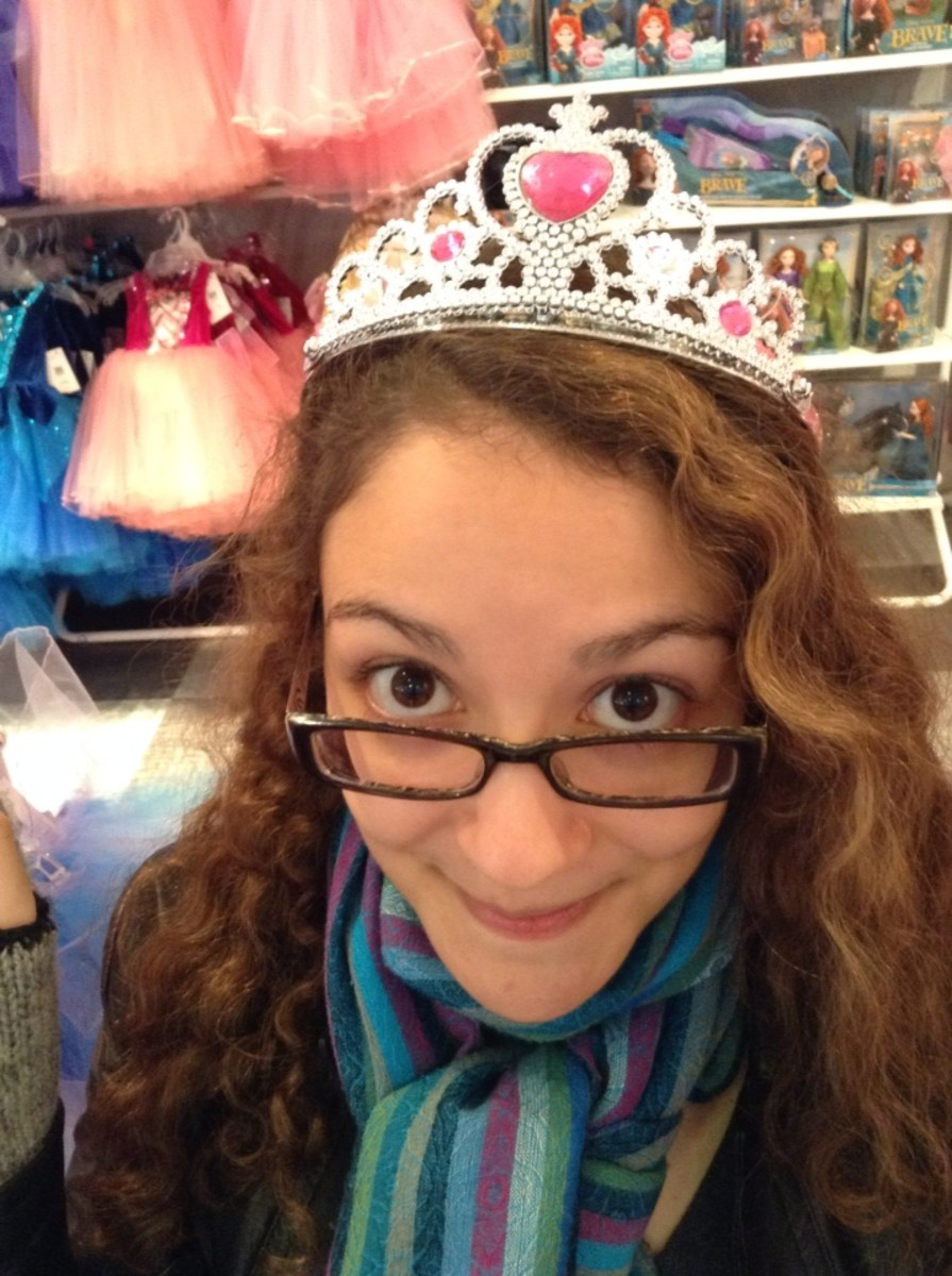 A tiara instantly transformed my sister into a princess!