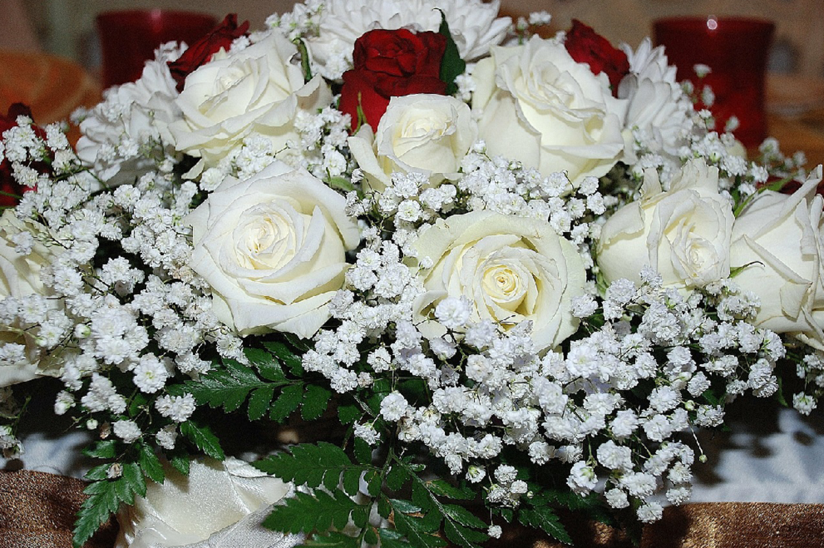 Arrangement of White Roses Picture
