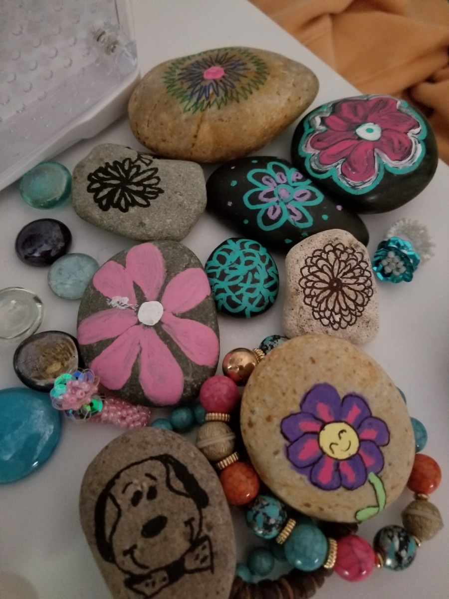 Folks love decorated rocks and these are so easy and fun to paint.