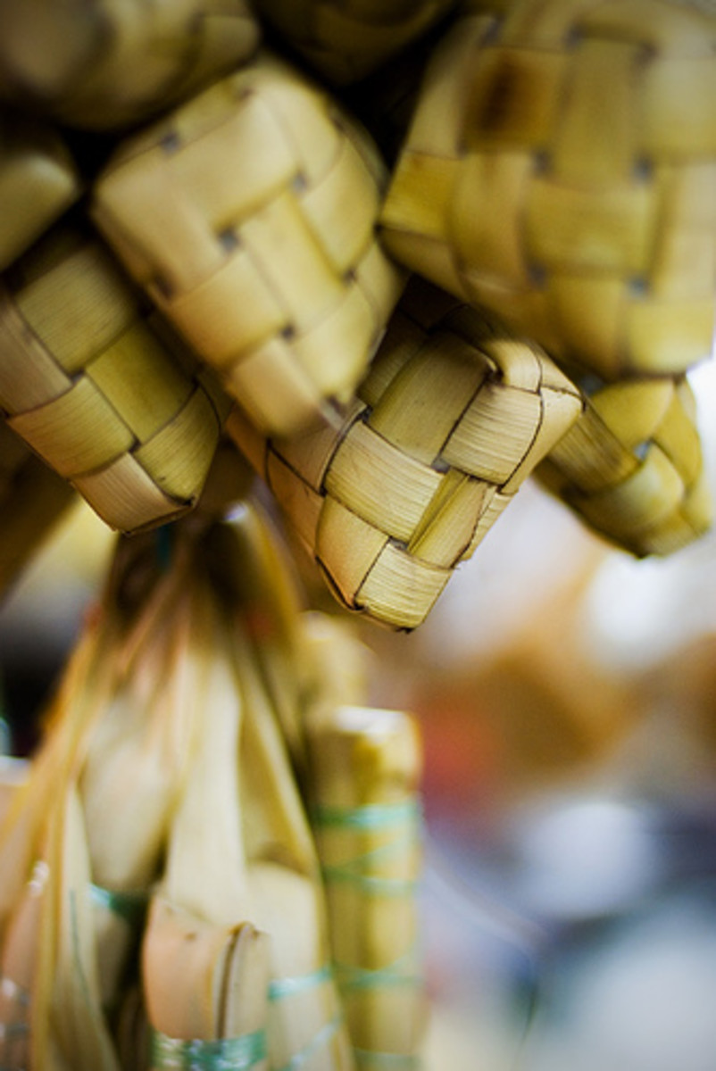 Ketupat - Malay Rice Cake (Photo courtesy by tuis from Flickr.com)