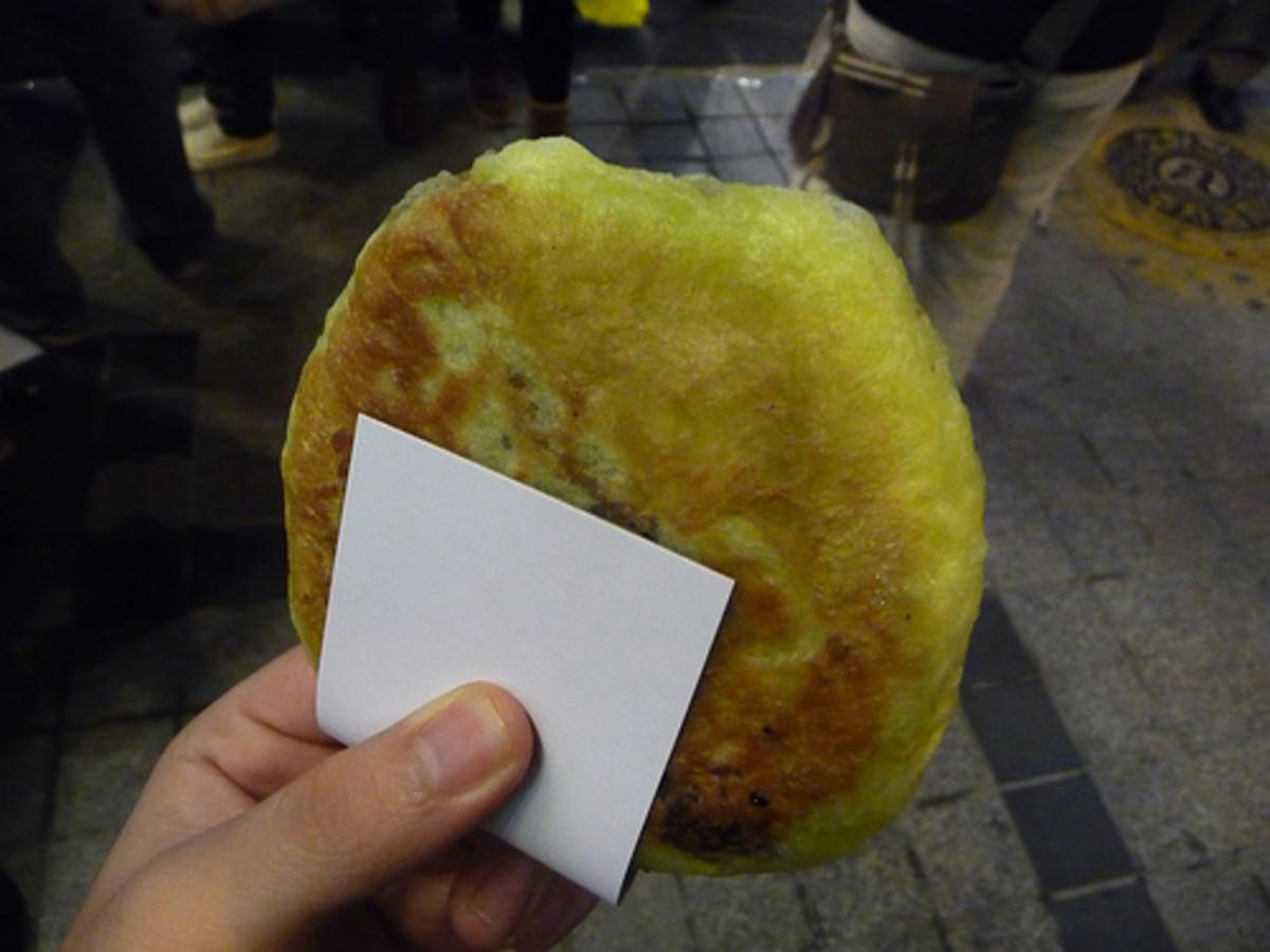 Hotteok - Korean Sweet Rice Cake (Photo courtesy by eliazar from Flickr.com)