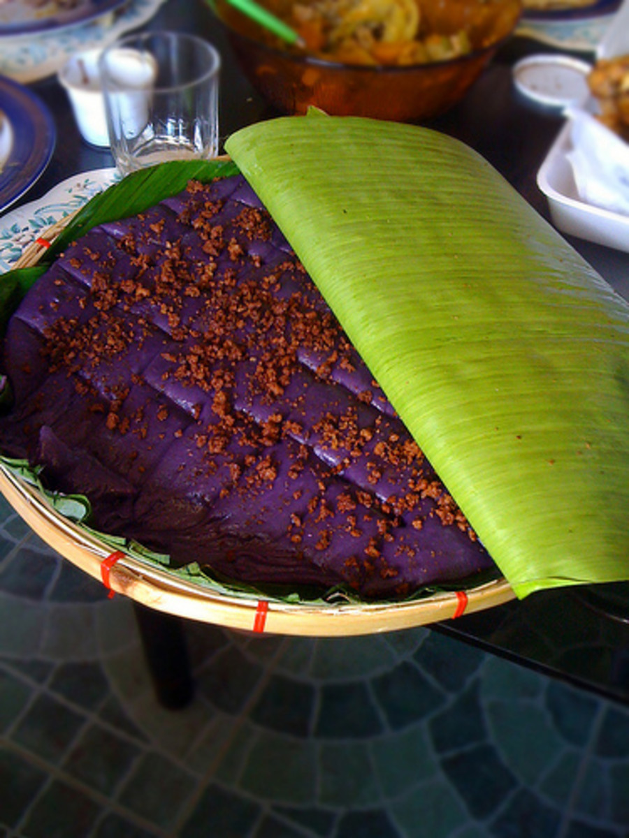 Ube Kalamay  - Filipino Rice Cake (Photo courtesy by oh sk from Flickr.com)
