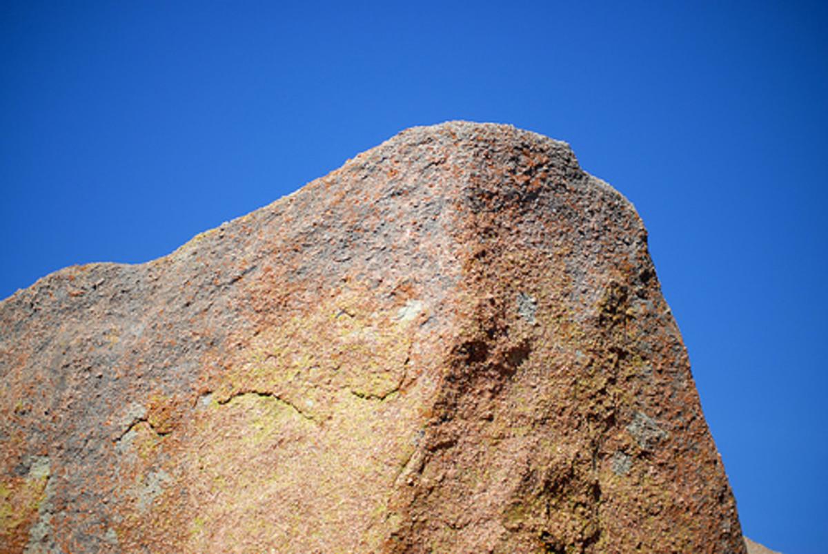 Pink granite formation