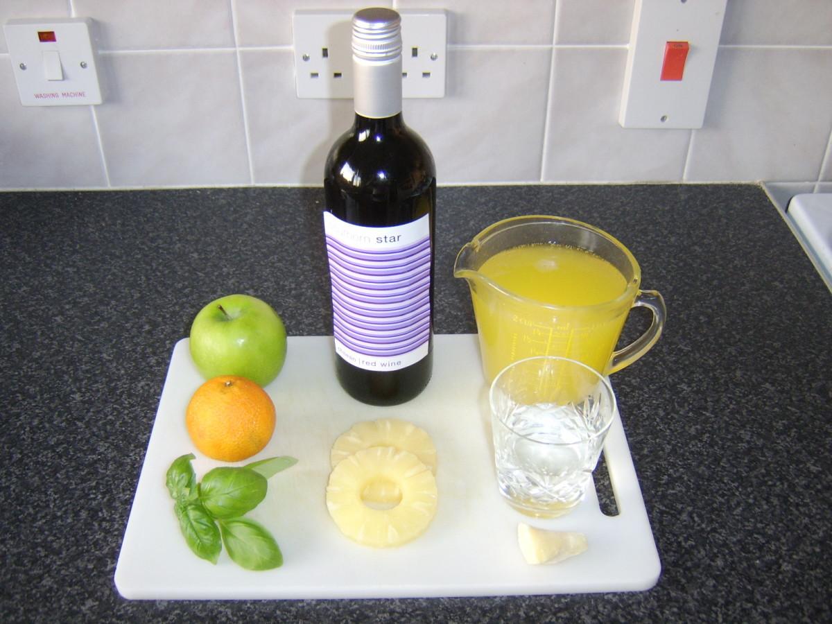 Sangria Ingredients