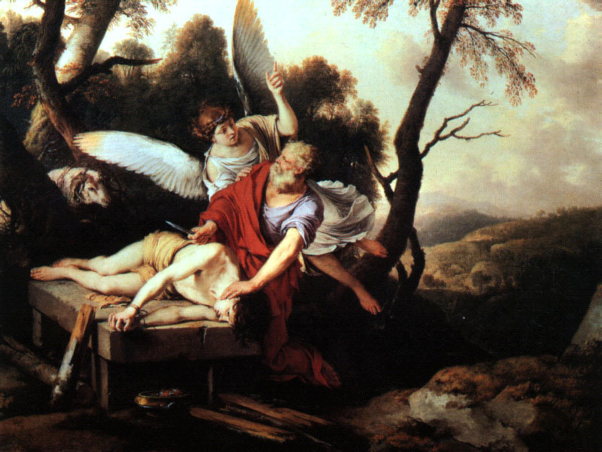Abraham Sacrificing Isaac.  Image by Laurent de LaHire, Wikimedia Commons