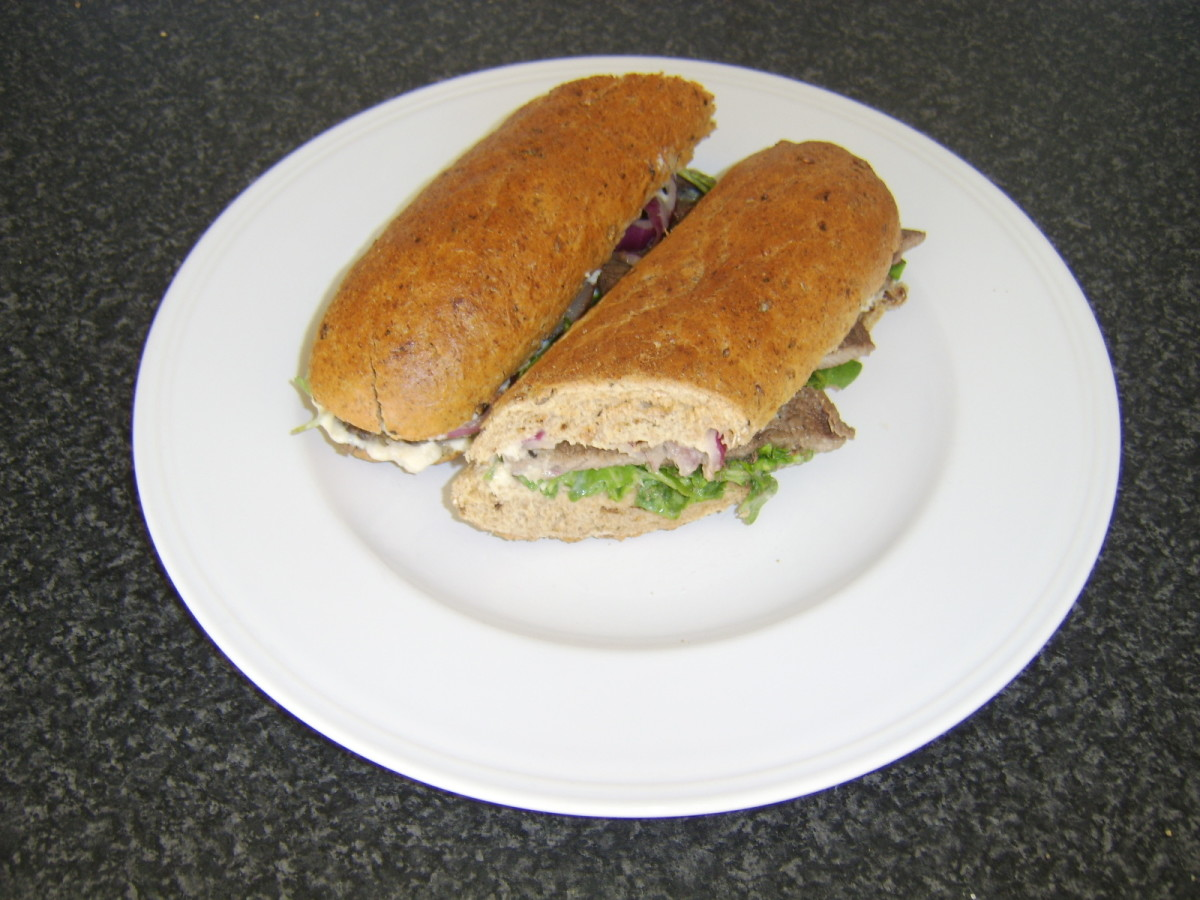 Quick and Easy Steak Sandwich Served